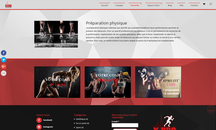 XPro Training, une page